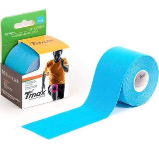 Bandagem Kinésio Elástica Funcional Adesiva Tmax Azul