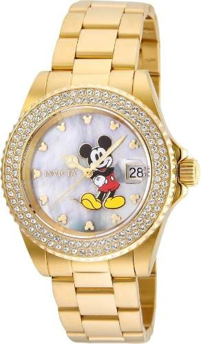Relógio Invicta 24751 Disney Feminino Banhado Ouro 18k