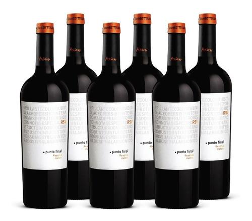 Imagen 1 de 8 de Vino Punto Final Malbec Reserva 6 Botellas