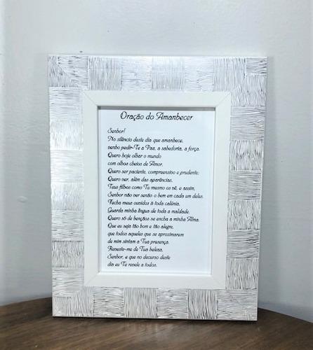 Imagem 1 de 5 de Quadro Oração Do Amanhecer 19,5x24,5cm