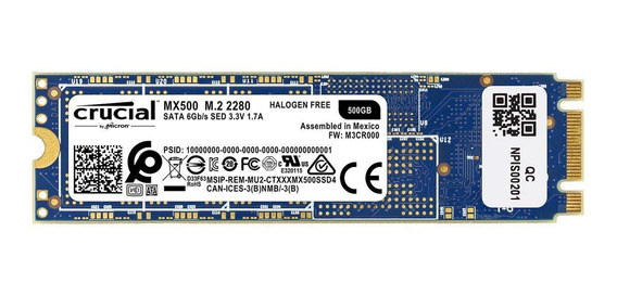 Hd Ssd M.2 M2 Sata Crucial Mx500 500gb 2280 Novo Original