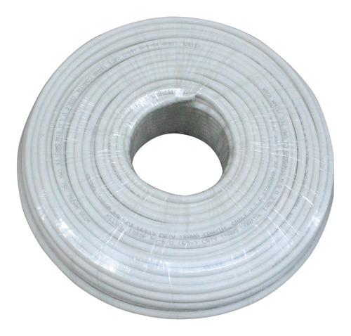 Cable Coaxial Chipa Rg6 X 100 Mts Blanco Keibol (ht10122)