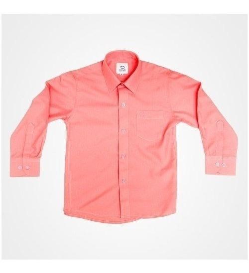Camisa Manga Larga Vestir Oscar Coral Tirantes Y Moño
