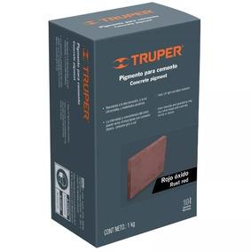 Pigmento Rojo Óxido Para Cemento, 1 Kg Truper - 18074