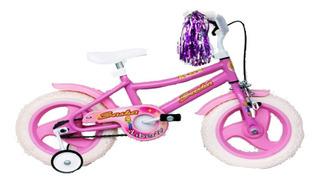 Bicicleta Nena Liberty Sasha R12 + Rueditas + Canasto Cuotas