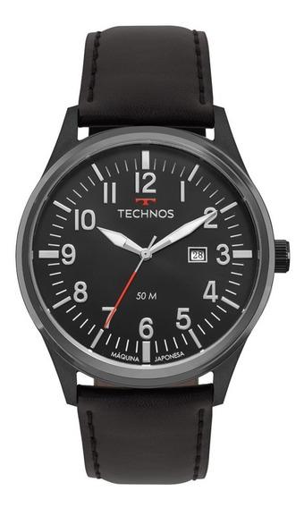 Relógio Technos Masculino Classic 2115mtc/2p Preto Couro