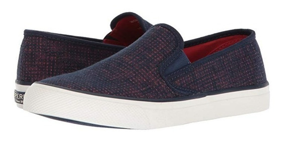 Tenis Sperry Top Sider Seaside 2 Tone Linen Navy