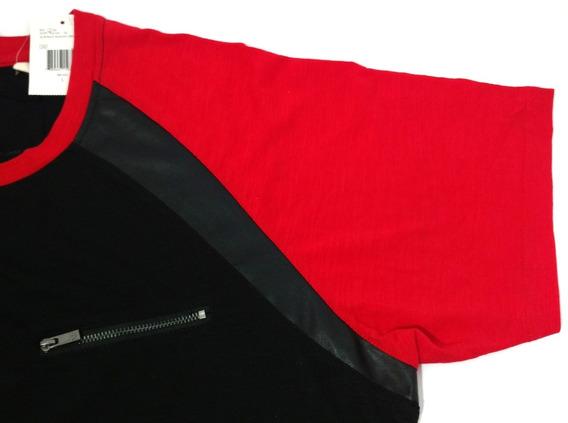 Camisa Masculina Guess Original Preta E Vermelha Tamanho G
