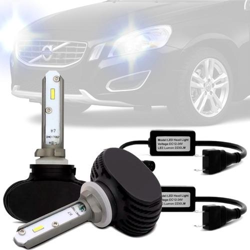 Imagem 1 de 5 de Par Lampada Ultra Led Baixo H7 Volvo S60 Foco Duplo