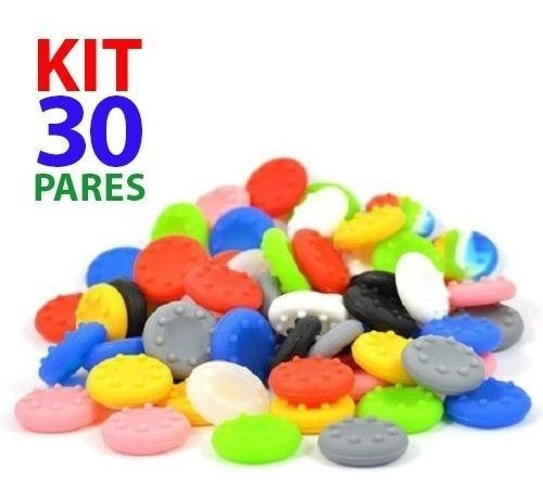 Kit 30 Pares Grip Silicone Boraccha Capa Analógico Xbox Ps4