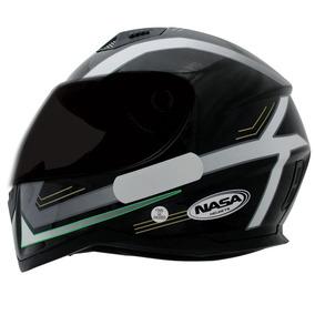 Capacete Nasa Sh-881 Elegance Preto/branco/verde 56/58/60/61