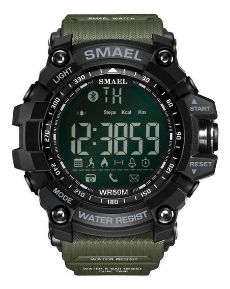 Smael Lujo Marca Inteligente Reloj Hombres Deportes Pasos Co
