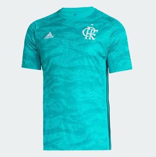 Camisa Flamengo Goleiro Azul E Verde 19/20