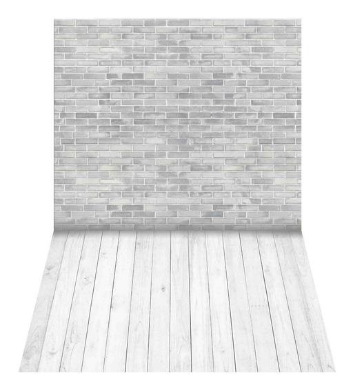 Fundo Fotográfico Tijolos Brancos Em Tecido 1,75x1,20