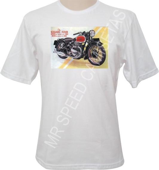 Camiseta Motocicleta Ariel The Square Four Preta