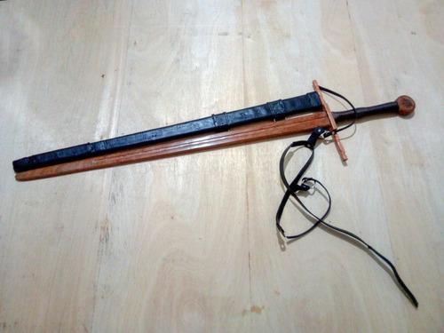Espada De Madeira Com Bainha De Couro/ Waster/ Medieval