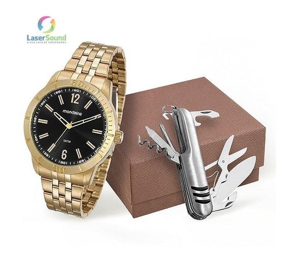 Relógio Mondaine Kit Masculino 99194gpmvde1k1, C/garan. E Nf