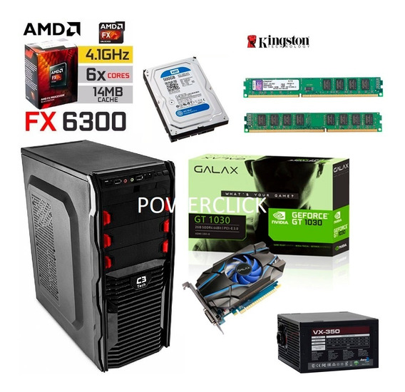 Computador Gamer Fx 6300 Gt 1030 Gddr5