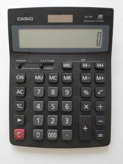 Calculadora Casio Gx-16v, 16 Digitos Two Way Power