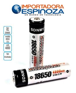 Pilas Bateria Sdnmy 4800 Mah 3.7v Unidad 18650 2 Unidades