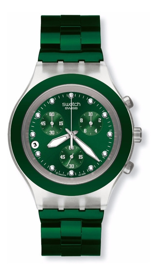 Relógio Swatch Full Blooded Green Svck4043ag