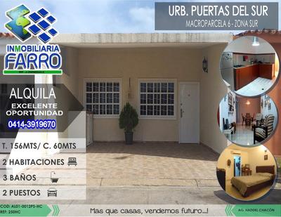 Alquiler De Casa Urb Puertas Del Sur Al01-0012ps-hc