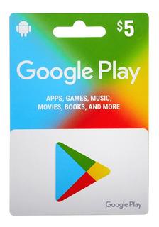 Tarjetas De Regalo Gift Card Google Play Saldo Desde $5