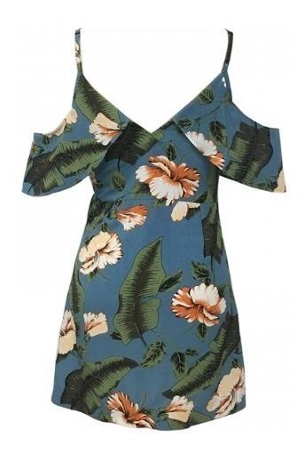 Bonito Vestido Floreado Para Verano De Moda Moderno Elegante