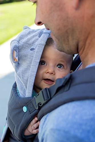 Infantino abrazar Ergonómico Con Capucha portador Gris