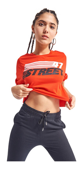 Remera 47street Manga Corta De Jersey Mujer 47 Street