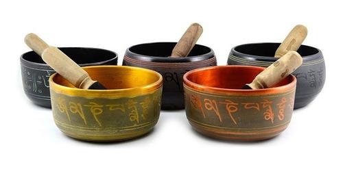 Cuenco Tibetano C/baqueta,3 Metales 15 Cm Envios Gratis