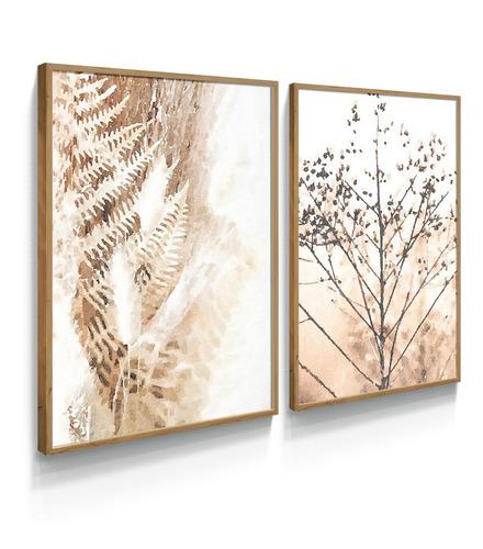 Quadro Decorativo Galhos Botânico Folhas Neuro Sala Luxo