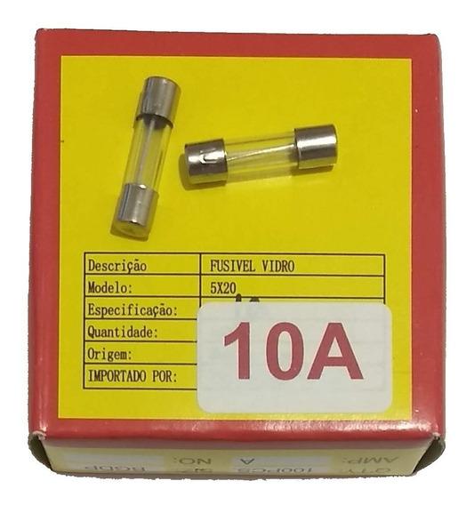 Fusível De Vidro 10a 250v 5x20 Caixa 100peças