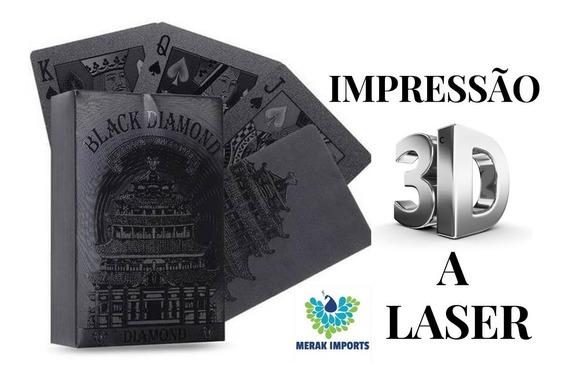 Baralho Preto Luxo Impermeável - Poker / Mágica / Truco