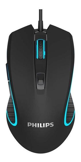 Mouse Gamer Laser Usb Óptico Pc 6400 Dpi Philips Momentum