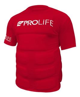 Camiseta Flutuadora Fv01 Prolife Proteção Upf 50+ Vermelho