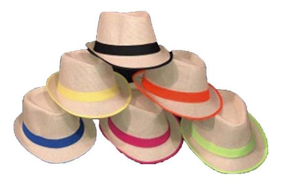 Sombrero Panameño Mix Color Cotillon Luminoso Carioca