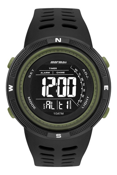 Relógio Masculino Mormaii Acqua Digital Preto Ultra Surf