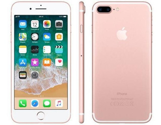 iPhone 7 Plus 128 Gb Rosa + 03 Capinhas De Brinde