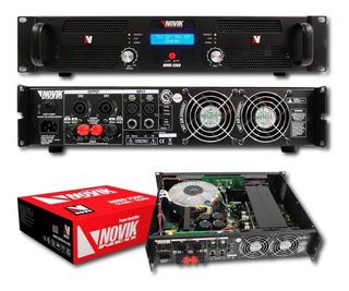 Amplificador De Potencia Novik Novo 2500 Rms 1250w + 1250p