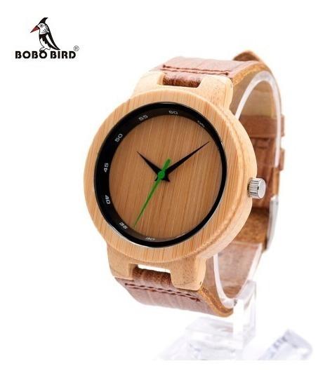 Relógio De Madeira Unissex Bobo Bird D17 Analógico