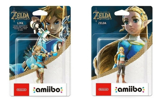 Amiibos Link Archer E Princesa Zelda Breath Of The Wild