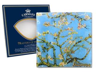 Plato En Cristal Cuadrado 13 Cm Los Almendros Van Gogh