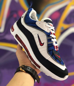 Zapatos Deportivos Nike Airmax 98 Caballero Negro Blanco