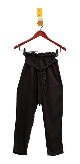 Pantalon De Nena Negro Liso Con Lazo Re Moderno!! - Piedrap