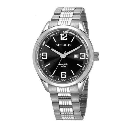 Relógio Seculus Masculino Long Life 23645g0svna1 Original