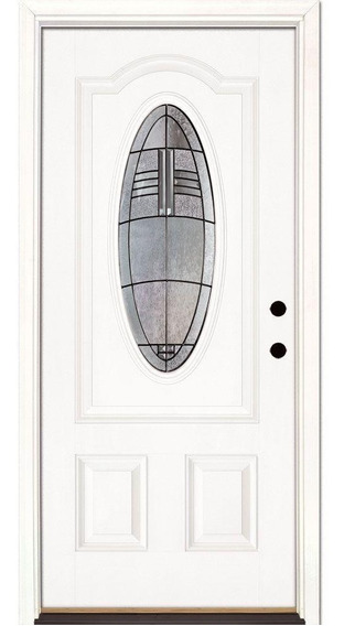 Puerta Principal Moderna Fibra De Vidrio Americana Diamante