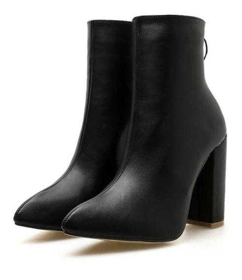 Bota Ankle Boot Salto Grosso