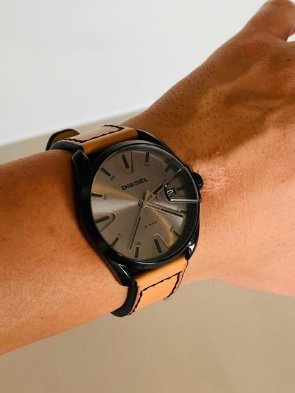Relógio Diesel Masculino Original - Dz1863 Marrom E Preto