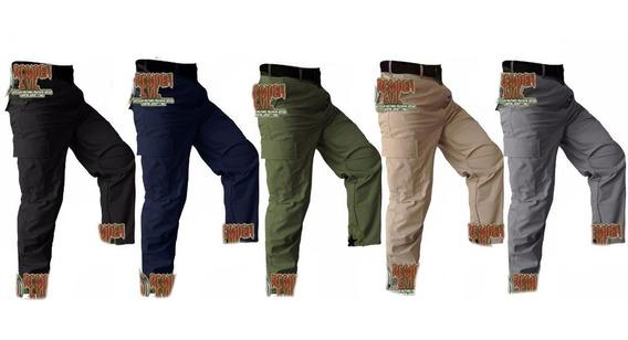 Pantalon De Bolsas Tactico Comando Policia Kaki Militar